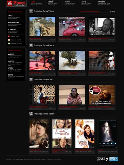 The Times Multimedia portal