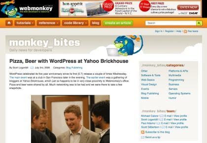 WordPress meetup at Yahoo Brickhouse July 2nd, 2008