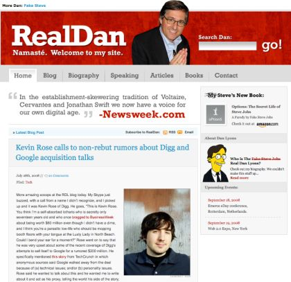 Screenshot of RealDanLyons.com