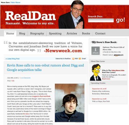 Screenshot of RealDanLyons.com