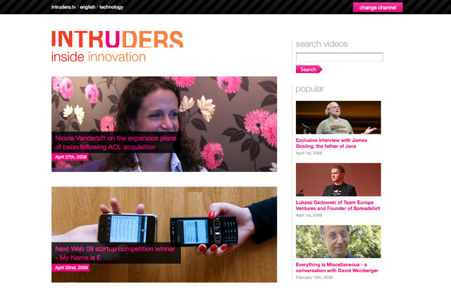 The all-new, WordPress-MU powered Intruders.tv