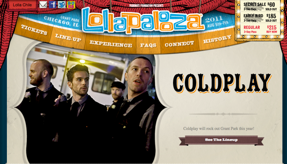 Lollapalooza on WordPress