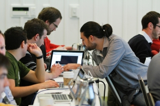 Students at the WordPress.com VIP Workshop.