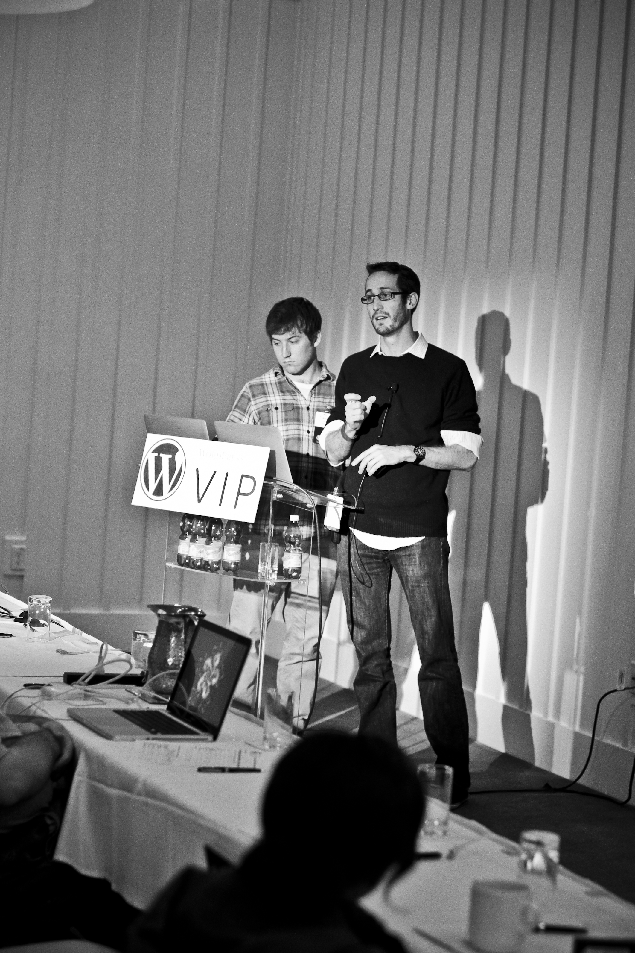 Automattic software engineers teach at the WordPress.com VIP Workshop.