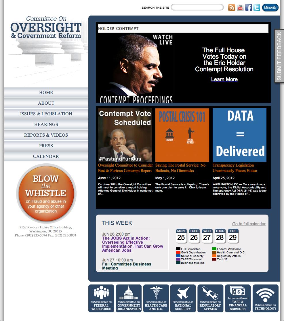 Oversight Screenshot