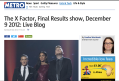 Metro.co.uk - The X Factor, Final Results show, December 9 2012: Live Blog
