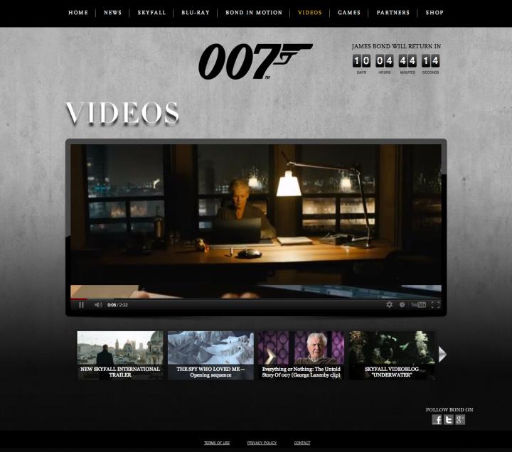 The Official James Bond 007 Website  Home