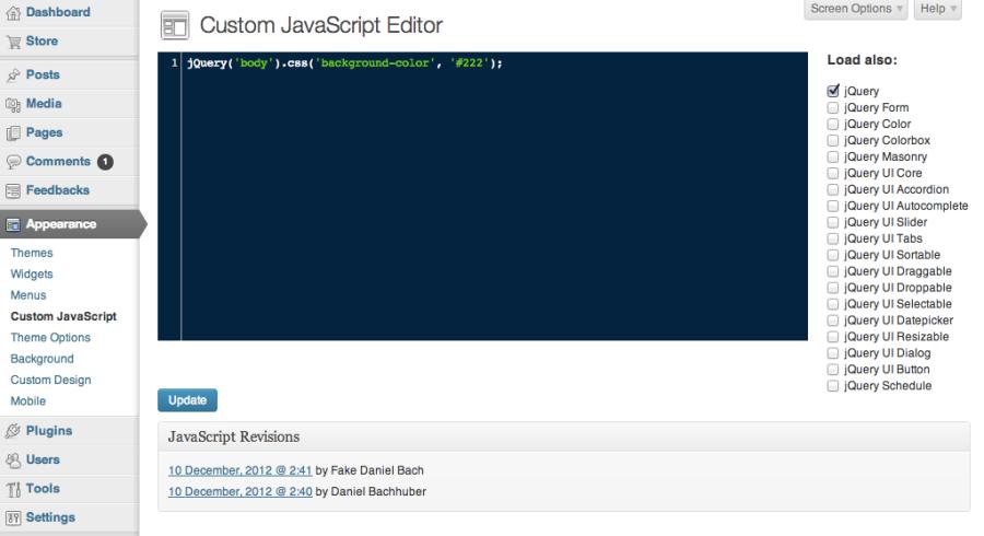 Custom JavaScript Editor