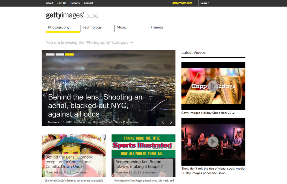 Photography | The Getty Images Blog