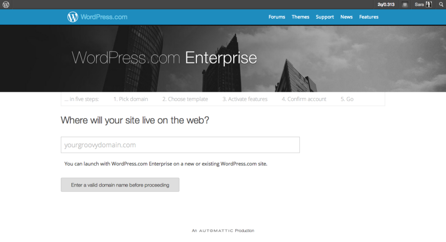 Sign Up for WordPress.com Enterprise