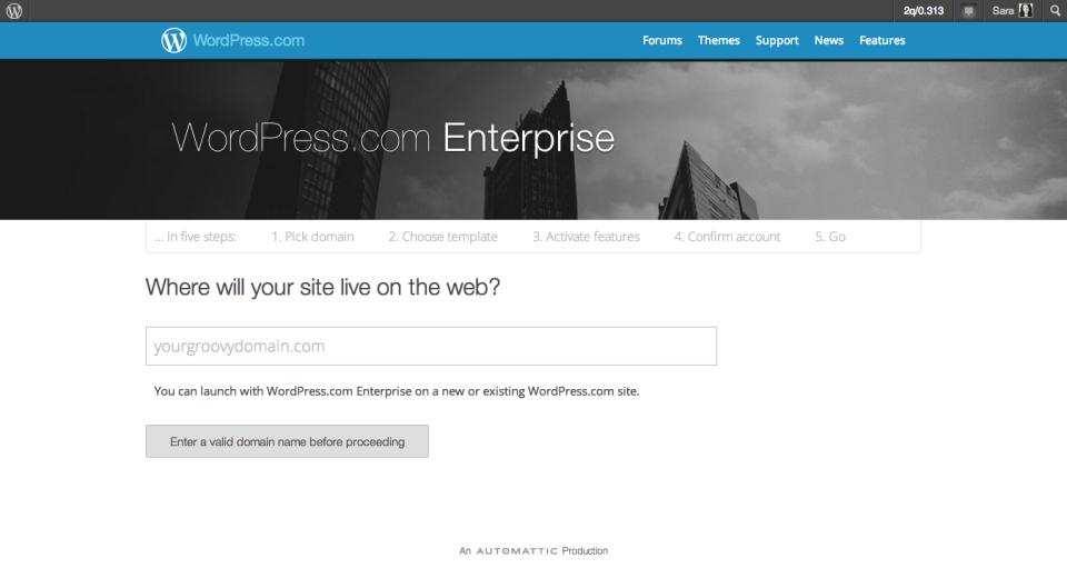 Sign Up for WordPress.com Enterprise