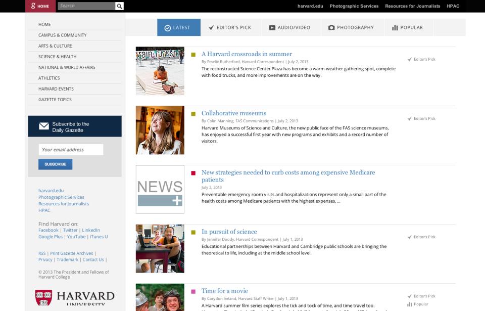 Harvard Gazette - stories