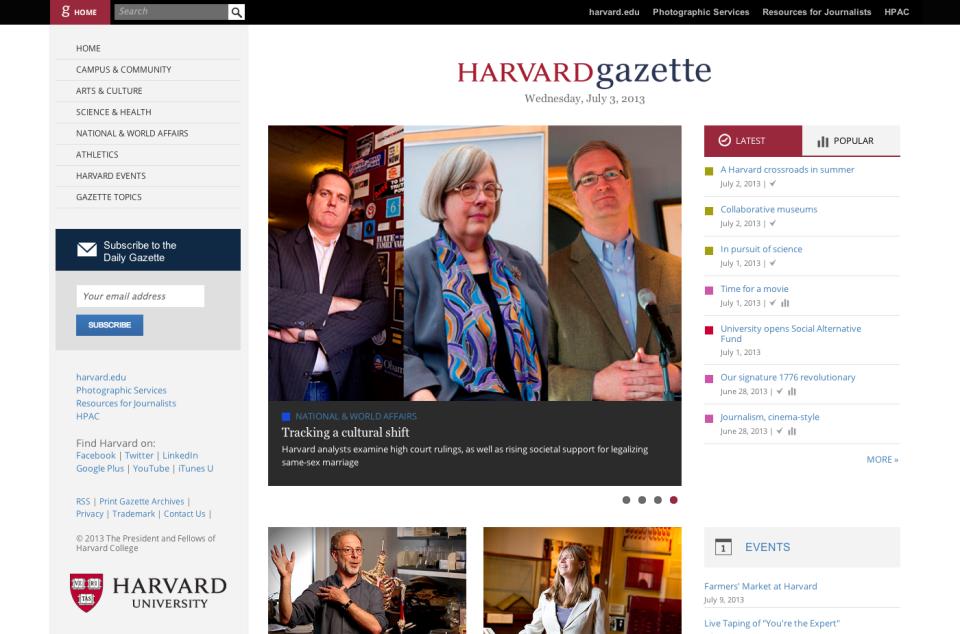 Harvard Gazette