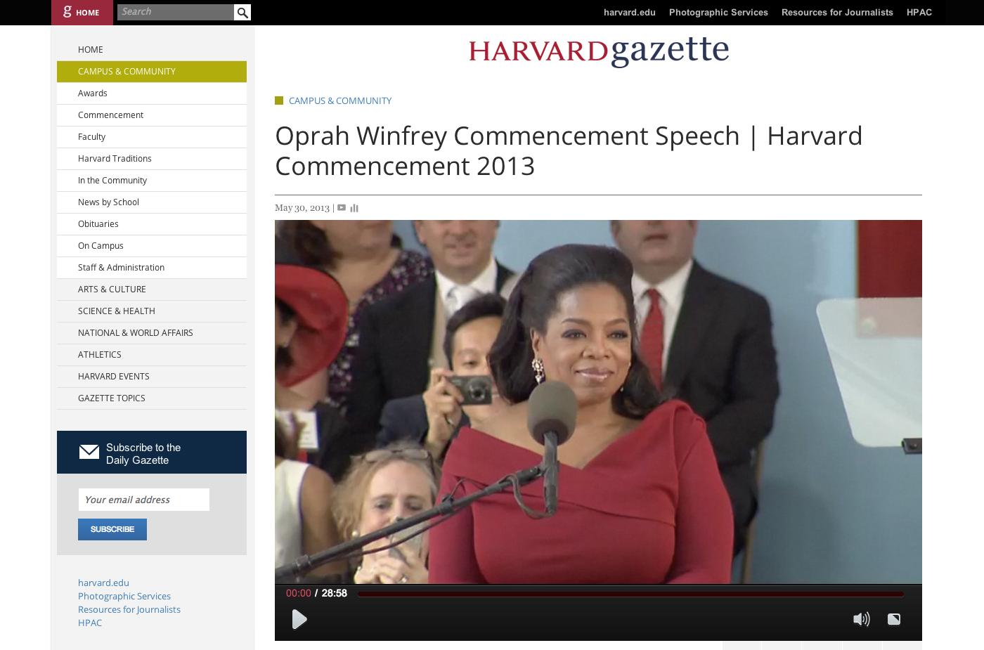 Oprah Winfrey Biography | Case Study Template