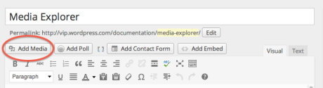 media explorer button