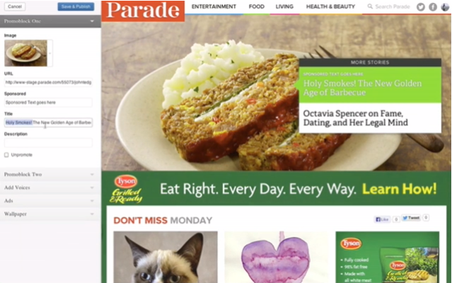 Parade.com's Demo of the Theme Customizer