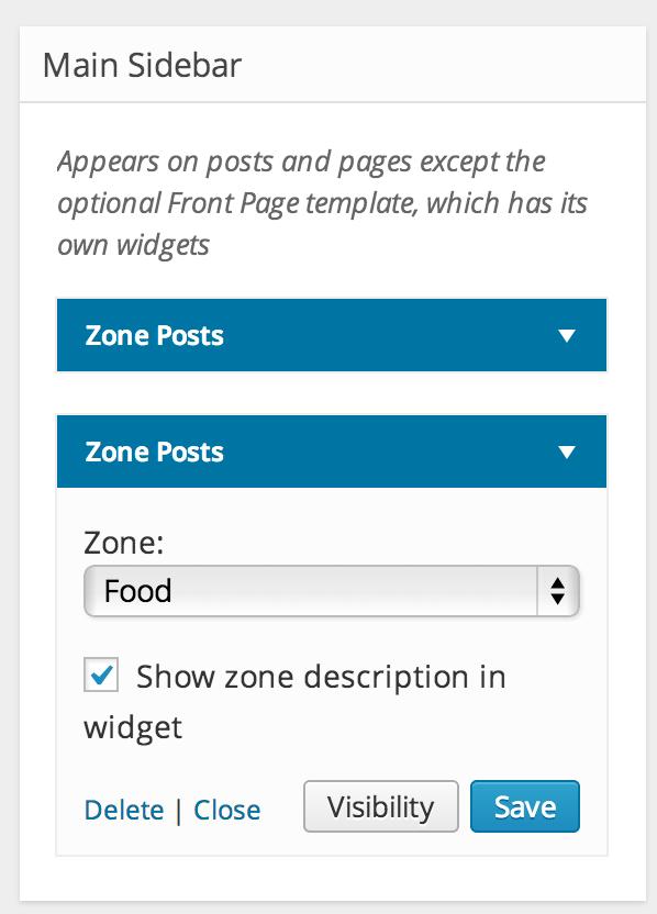 zone widget