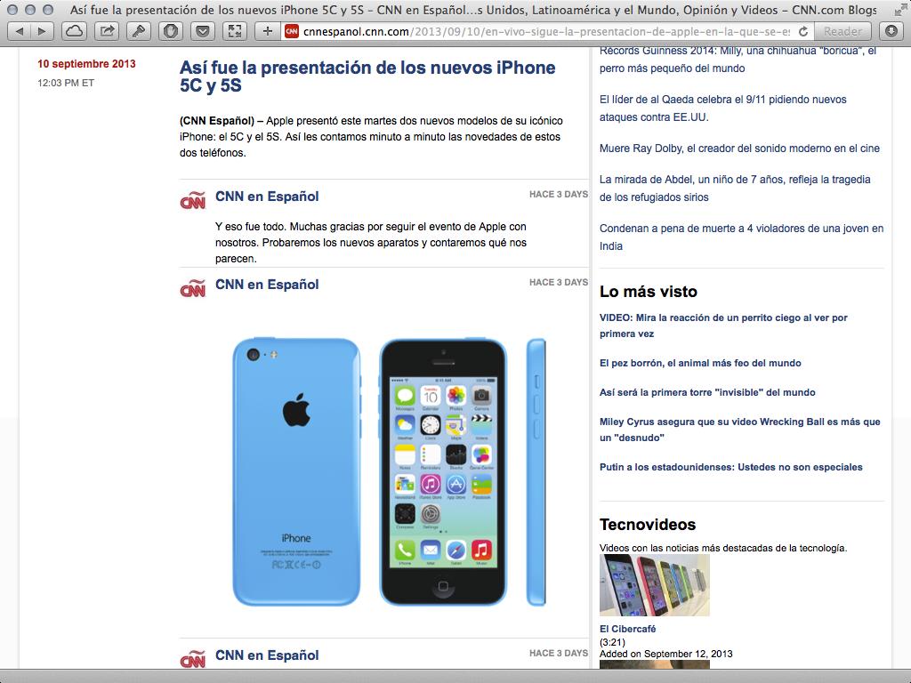 CNN Español iPhone Liveblog