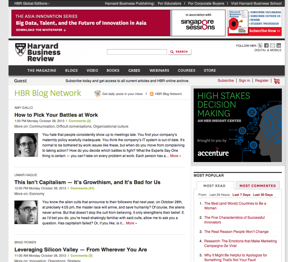 Recent Enterprise WordPress Launches & Redesigns: HBR ...