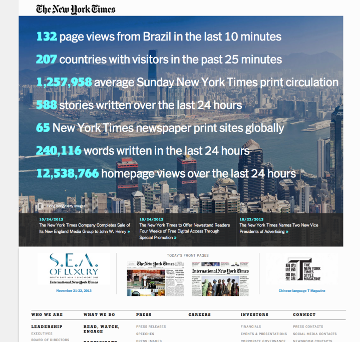 The New York Times Company Corporate Site