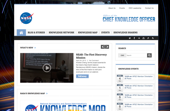 NASA Chief Knowledge Officer | Share. Connect. Engage.