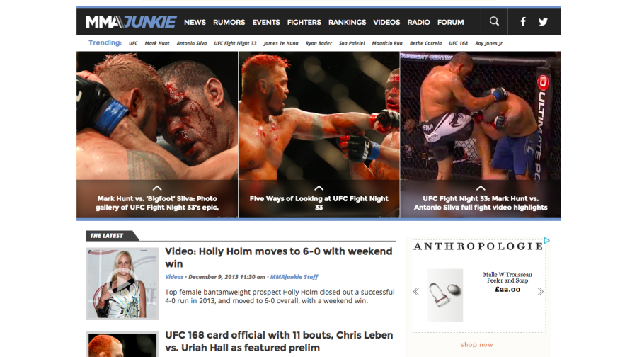 MMAjunkie   UFC and MMA news, rumors, live blogs and videos