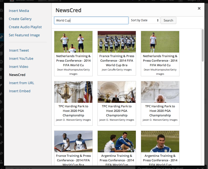 By extending the Media Explorer plugin, editors can now easily search the NewsCred photo library without leaving the dashboard.