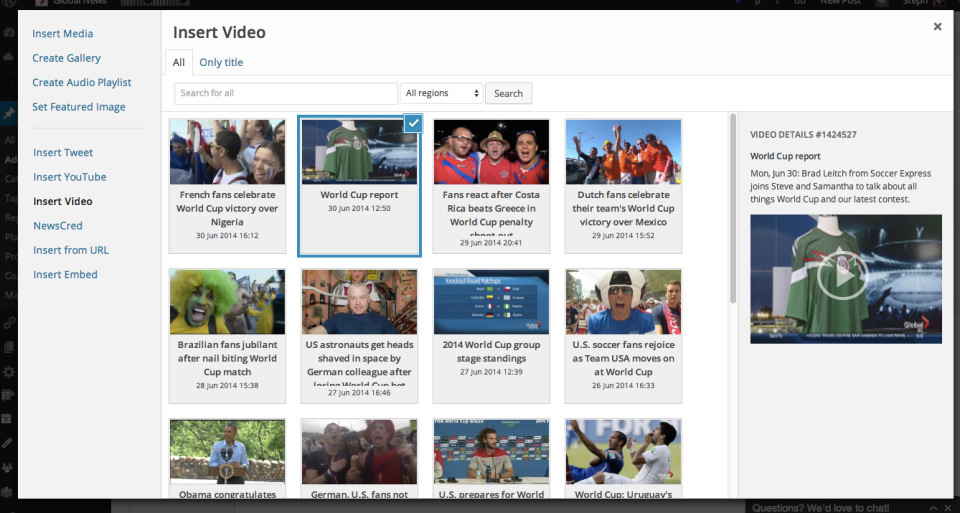 Embedding videos used to be a tedious process requiring multiple browser tabs. Now editors can quickly search and embed videos right from the WordPress admin.