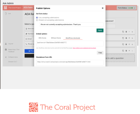 Coral Project form embedding